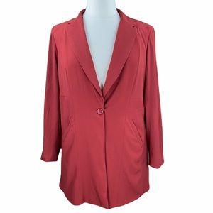Torrid Brick Red Single Button Satin Lined Blazer